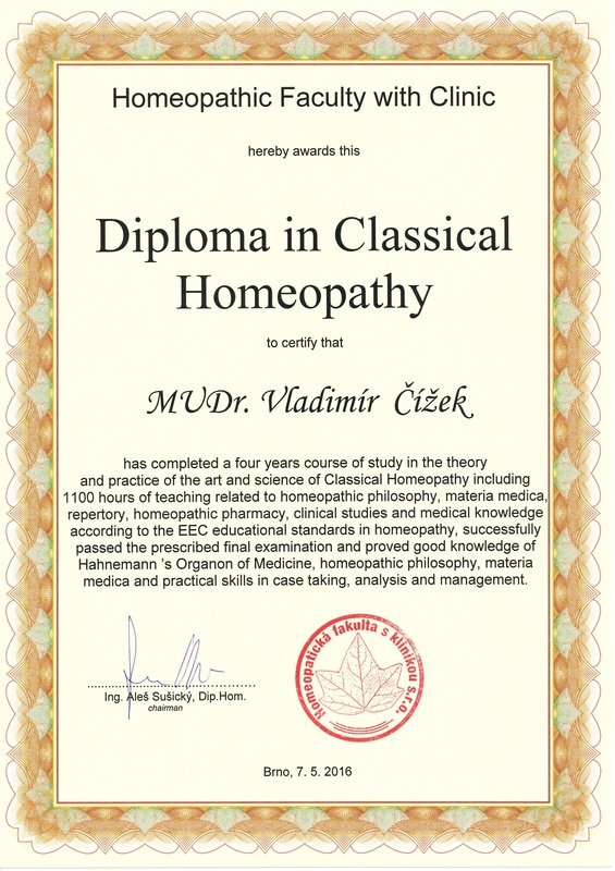 Diploma in classical homeopathy