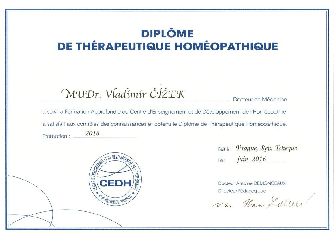 Diplôme de thérapeutique homéopathique